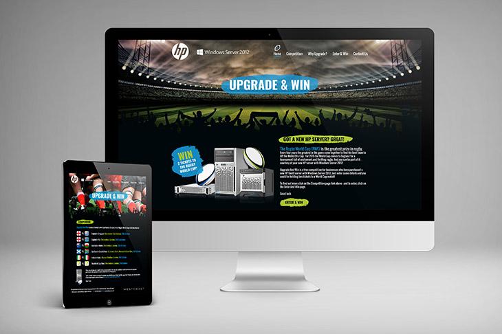 HP & Westcoast Responsive website design