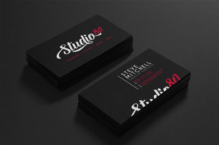 Studio80 business cards