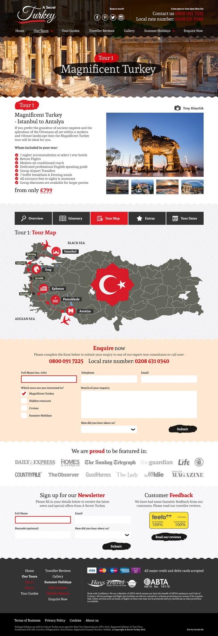 Secret Turkey Website Design Layout