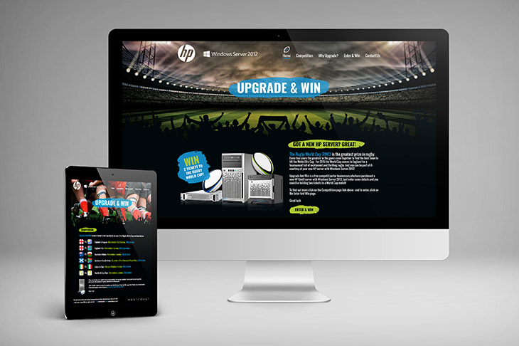 HP & Westcoast Responsive website design