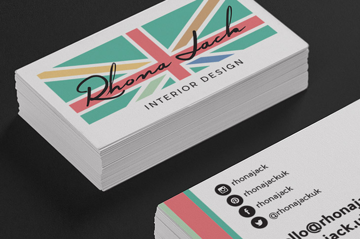 Rhona Jack Branding and business card design